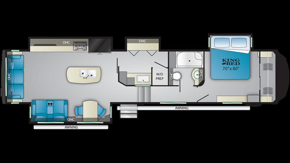2020 Bighorn 3925MLP Floor Plan Img