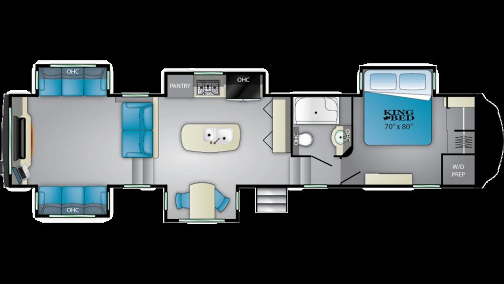 2020 Bighorn 3980RRD Floor Plan Img