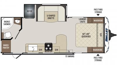 2020 Bullet 221RBS Floor Plan Img