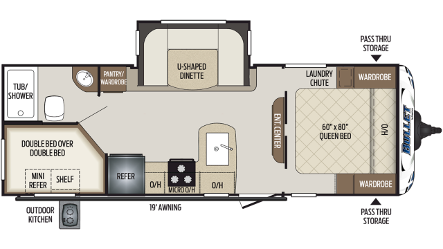 2020 Bullet 243BHS Floor Plan