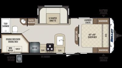 2020 Bullet 243BHS Floor Plan Img