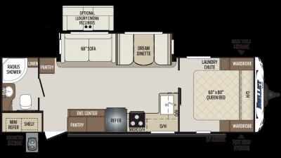 2020 Bullet 261RBS Floor Plan Img