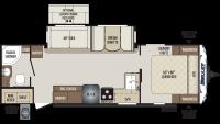 2020 Bullet 261RBS Floor Plan