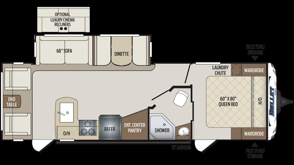 2020 Bullet 269RLS Floor Plan Img