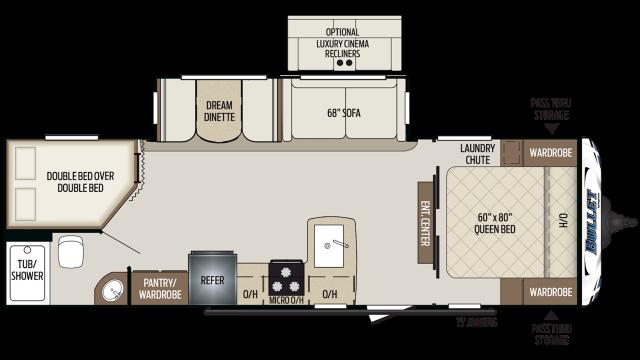 2020 Bullet 273BHS Floor Plan