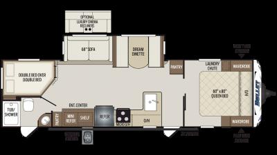 2020 Bullet 290BHS Floor Plan Img