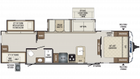 2020 Bullet 308BHS Floor Plan