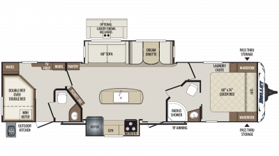 2020 Bullet 330BHS Floor Plan Img