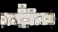 2020 Bullet 330BHS Floor Plan