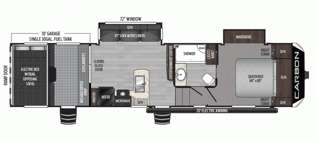 2020 Carbon 337 Floor Plan Img