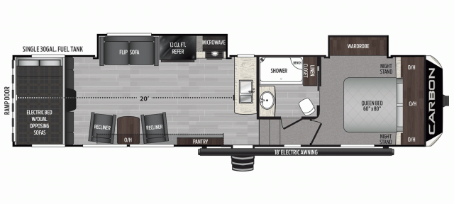 2020 Carbon 349 Floor Plan