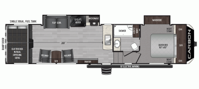 2020 Carbon 349 Floor Plan Img