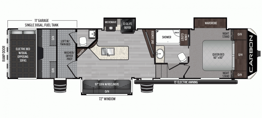 2020 Carbon 357 Floor Plan Img