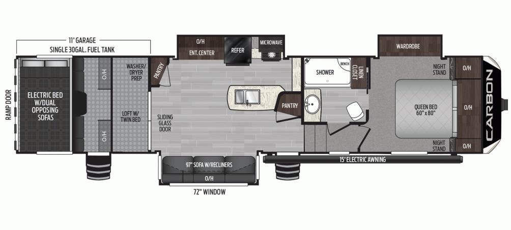 2020 Carbon 364 Floor Plan Img