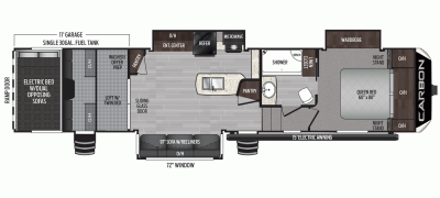 2020 Carbon 364 Floor Plan Img