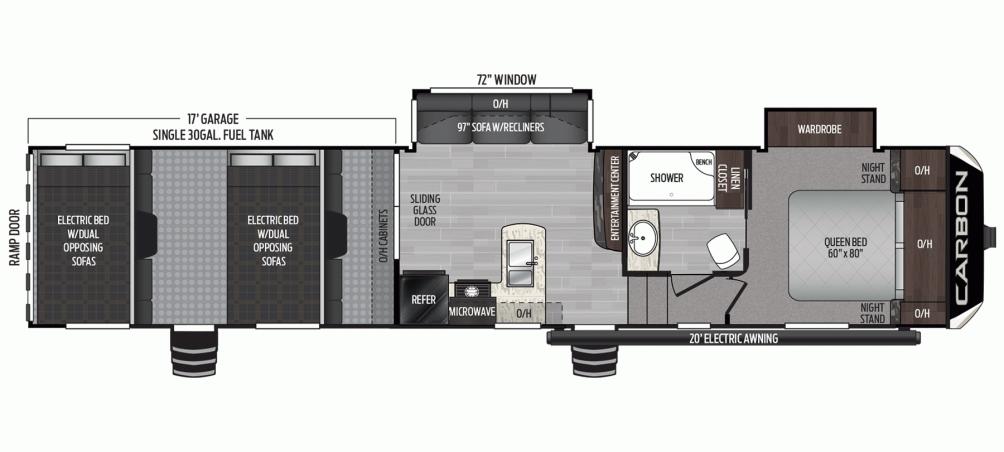 2020 Carbon 387 Floor Plan Img