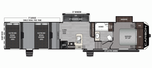 2020 Carbon 387 Floor Plan