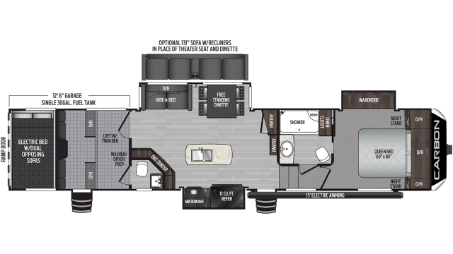 2020 Carbon 417 Floor Plan