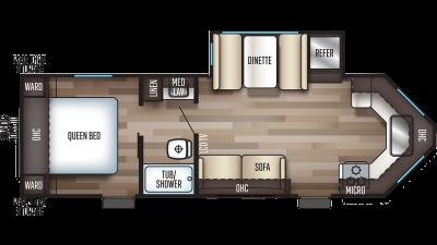 2020 Cherokee 234VFK Floor Plan Img