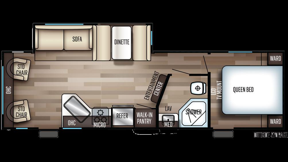 2020 Cherokee 264RL Floor Plan Img