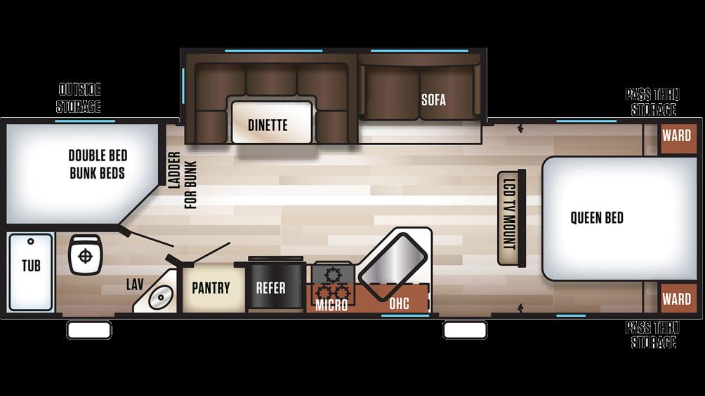 2020 Cherokee 274DBH Floor Plan Img