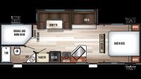 2020 Cherokee 274DBH Floor Plan