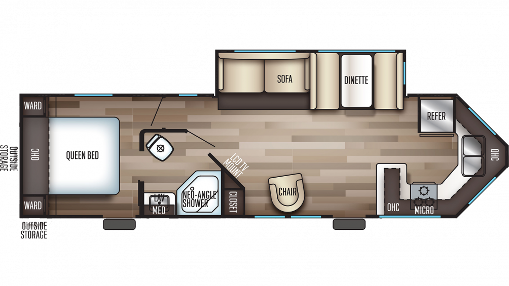 2020 Cherokee 274VFK Floor Plan Img