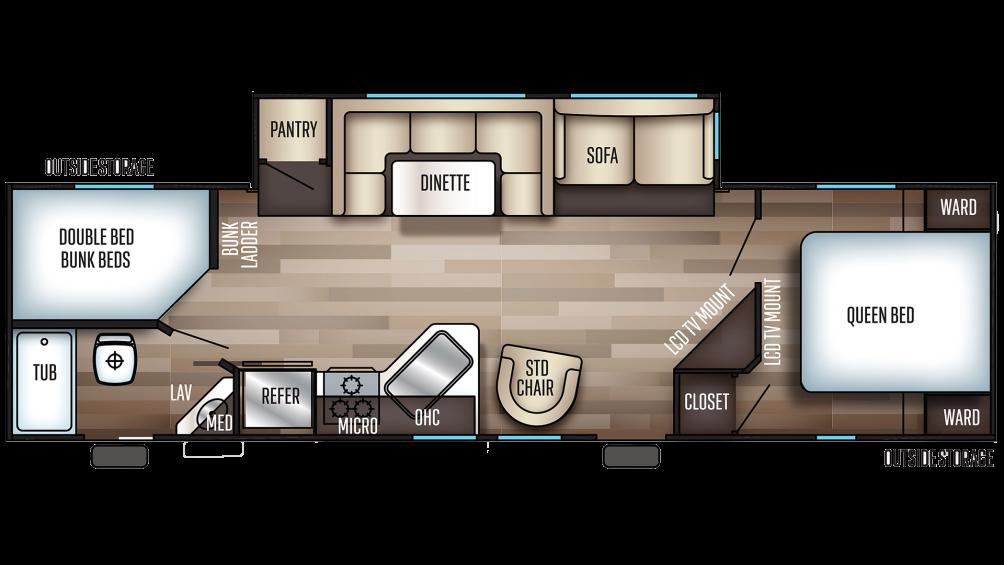 2020 Cherokee 284DBH Floor Plan Img