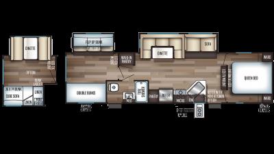 2020 Cherokee 294BH Floor Plan Img
