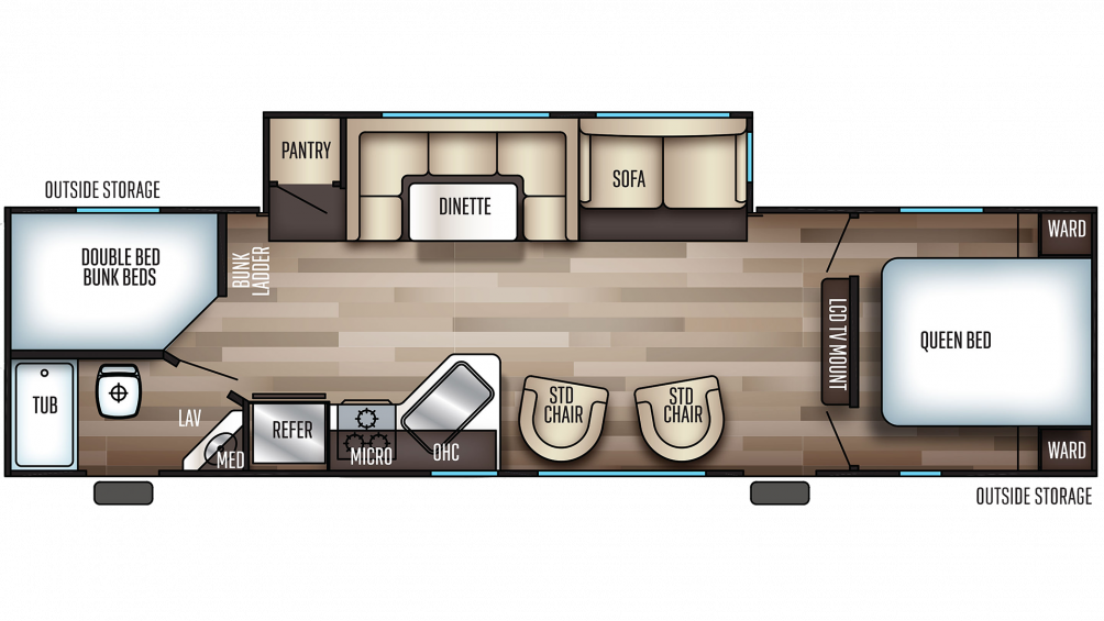 2020 Cherokee 294DBH Floor Plan Img