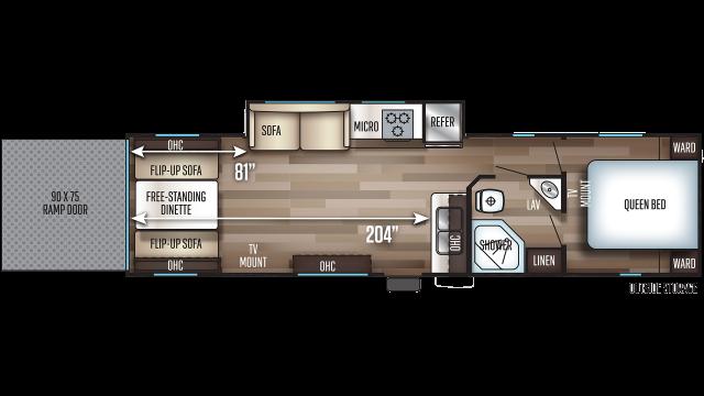2020 Cherokee 294RR Floor Plan