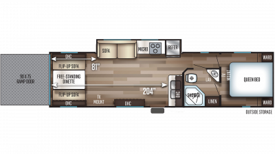 2020 Cherokee 294RR Floor Plan Img