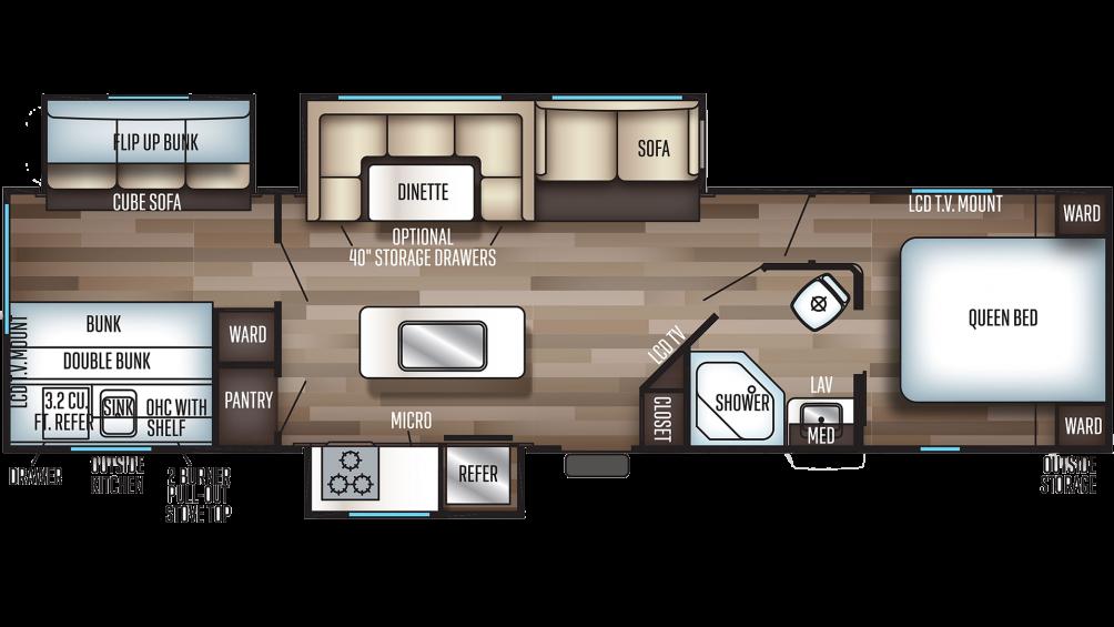 2020 Cherokee 304BH Floor Plan Img