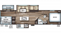 2020 Cherokee 304BH Floor Plan