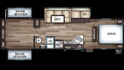 2020 Cherokee 304BS Floor Plan Img