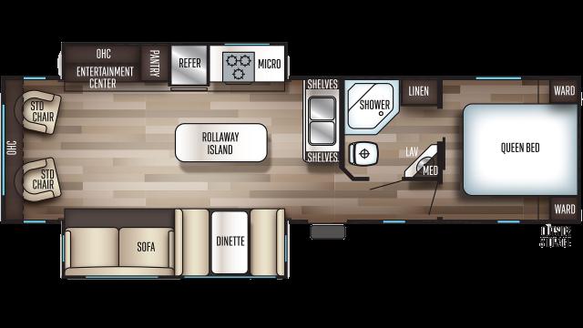 2020 Cherokee 304R Floor Plan