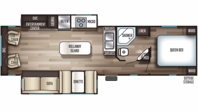 Cherokee 304R Floor Plan - 2020