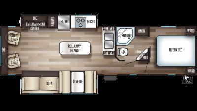 2020 Cherokee 304R Floor Plan Img