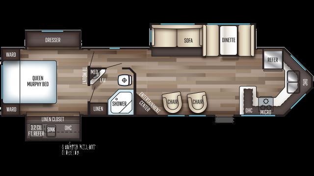 2020 Cherokee 304VFK Floor Plan