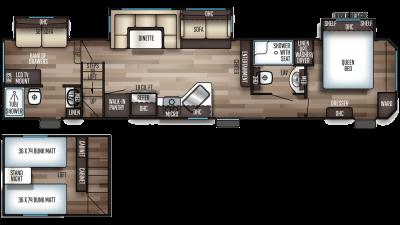 2020 Cherokee 39CA Floor Plan Img