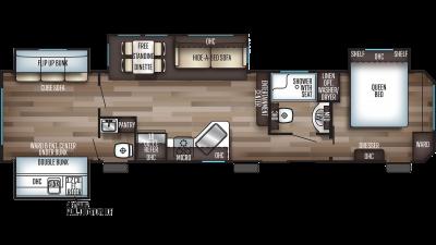 Cherokee 39KR Floor Plan - 2020