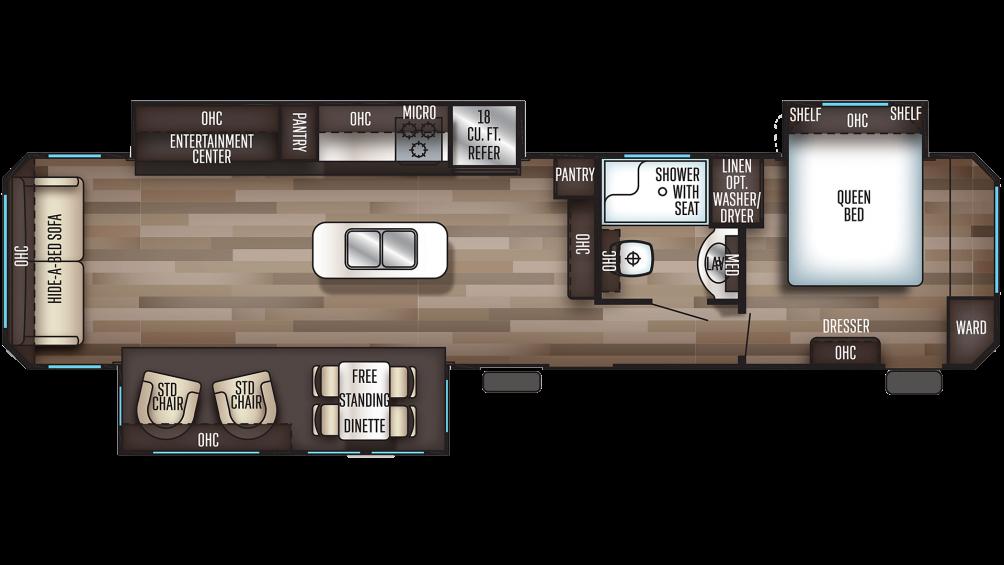 2020 Cherokee 39RL Floor Plan Img