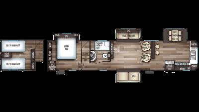 2020 Cherokee 39SR Floor Plan Img