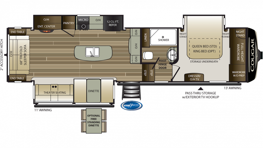 2020 Cougar 315RLS Floor Plan Img