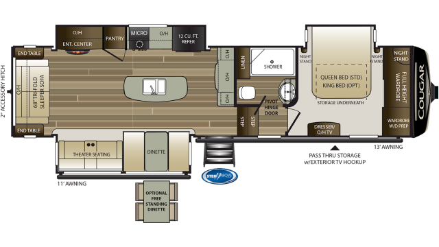 2020 Cougar 315RLS Floor Plan