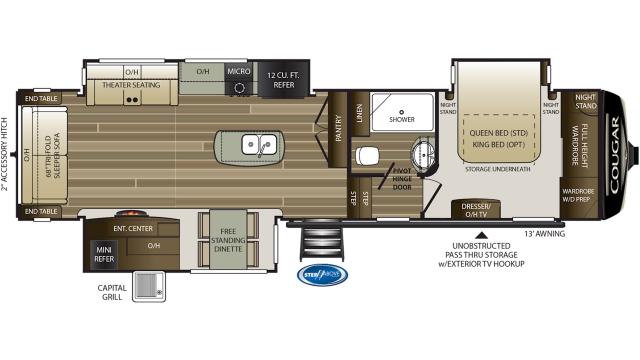 2020 Cougar 338RLK Floor Plan