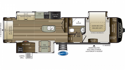 2020 Cougar 338RLK Floor Plan Img