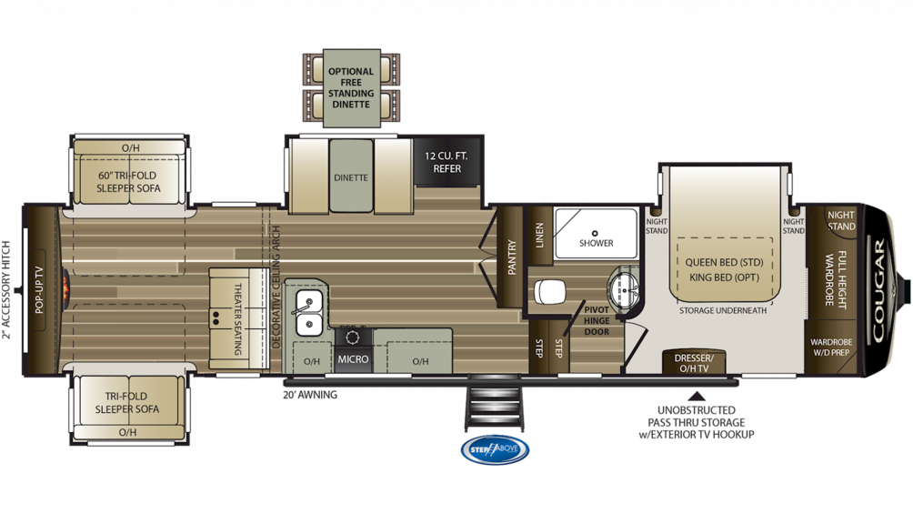 2020 Cougar 366RDS Floor Plan Img