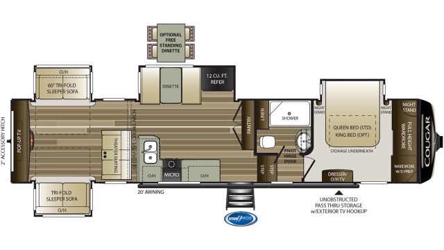 2020 Cougar 366RDS Floor Plan