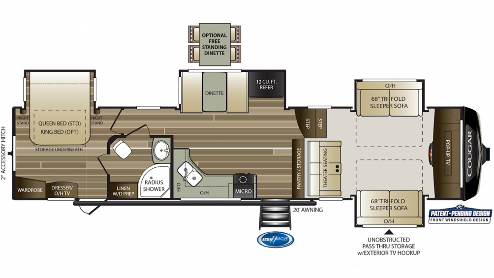 2020 Cougar 367FLS Floor Plan Img